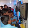 Indian schoolchildren enjoying teh internets